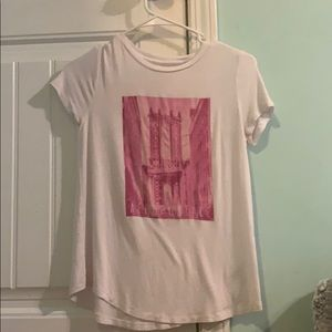 white and pink aeropostale shirt never worn